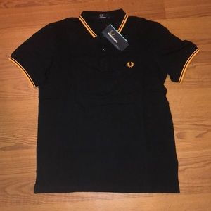 Shirts & Tops - BNWT FRED PERRY BOYS BLACK POLO YOUTH L
